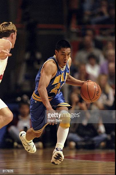 Kawika Akina of the Northern Arizona Lumberjacks in action against the Cincinnati Bearcats during an NCAA tournament game at the Boise State Pavilion...