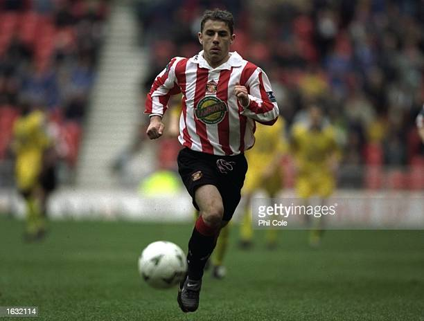 Kevin Phillips of Sunderland chases a ball during a game between Sunderland and Portsmouth in the Nationwide Division 1 match played at the Stadium...