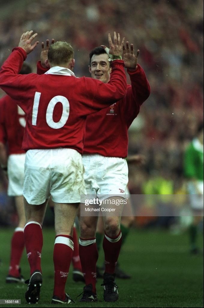 Neil Jenkins and Rob Howley of Wales : News Photo