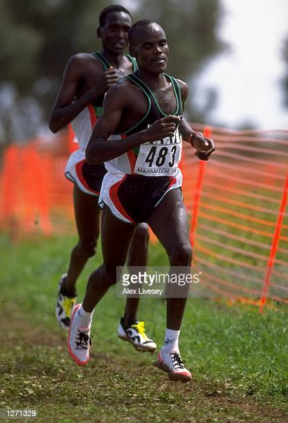 Paul Koech of Kenya in action during the IAAF World Cross Country Championships in Marrakech Morocco Mandatory Credit Alex Livesey /Allsport