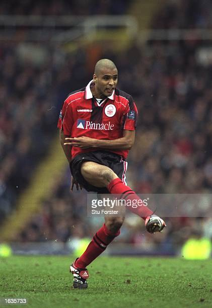 Pierre van Hooijdonk of Nottingham Forest in action during a Nationwide League Division One match against Birmingham City at St Andrews in Birmingham...