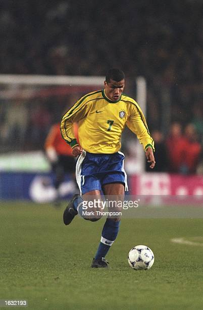 Rivaldo of Brazil in action during the International friendly against Germany at the Neckarstadion in Stuttgart in Germany Brazil won 21 Mandatory...