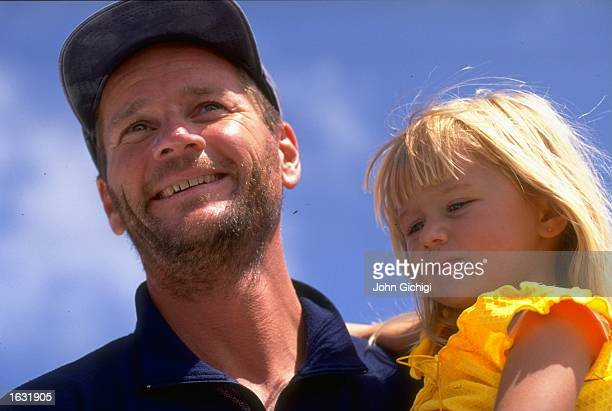Swedish Match skipper Gunnar Krantz is reunited with daughter Emma at the end of Leg Six in the Whitbread Round the World Race for the Volvo Trophy...