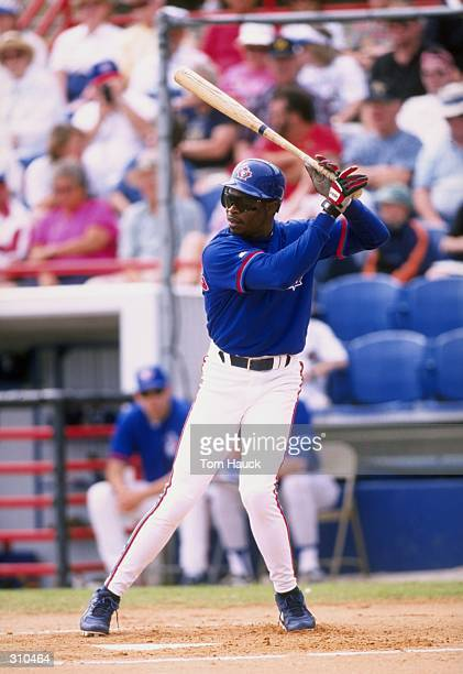 Tony Fernandez of the Toronto Blue Jays in action during a spring training game against the Kansas City Royals at the Grant Field in Dunedin Florida...