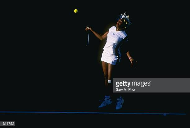 Venus Williams of the United States in action during the State Farm Evert Cup at Indian Wells in Palm Springs California Mandatory Credit Gary Prior...
