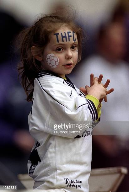 A young Tottenham Hotspur fan at the FA Carling Premiership match against Aston Villa at White Hart Lane in London Spurs won 10 Mandatory Credit...