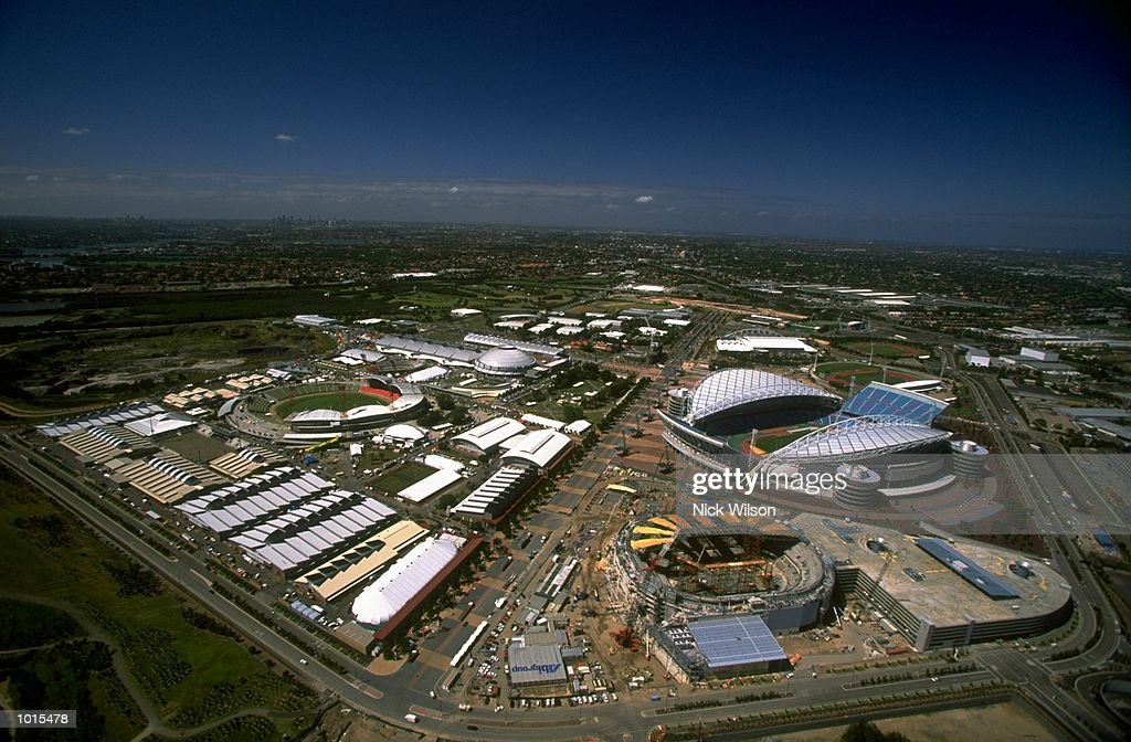 An aerial view of the Sydney 2000 Olympics site at Homebush, Sydney, Australia. \ Mandatory Credit: Nick Wilson /Allsport