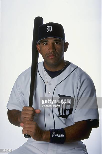 Catcher Javier Cardona of the Detroit Tigers poses for a studio portrait on Photo Day during Spring Training at the Joker Merchant Stadium in...