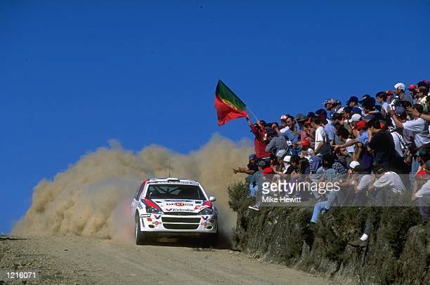Colin McRae races the Ford Focus at the FIA World Rally Championships Portugese Rally in Portugal Mandatory Credit Mike Hewitt /Allsport