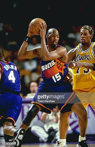 Danny Manning of the Phoenix Suns in action during the game against the Los Angeles Lakers at the Great Western Forum in Inglewood California The...
