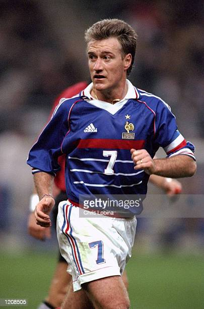 Didier Deschamps of France during the Euro 2000 qualifier against Ukraine at the Stade de France in St Denis, France. \ Mandatory Credit: Chris...