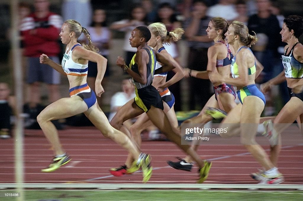 Faith Macharia (second from left) of Kenya in action during the Womens 800m at the Optus Athletics Grand Prix Final in Brisbane, Australia. \ Mandatory Credit: Adam Pretty /Allsport