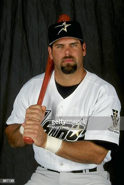 Infielder Ken Caminiti of the Houston Astros poses for a studio portrait on Photo Day during Spring Training at the Osceola County Stadium in...