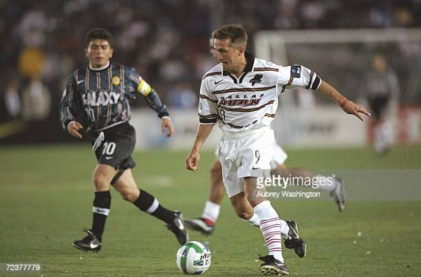 Jason Kreis of the Dallas Burn in action during the game against the Los Angeles Galaxy at the Rose Bowl in Pasadena, California. The Galaxy defeated...