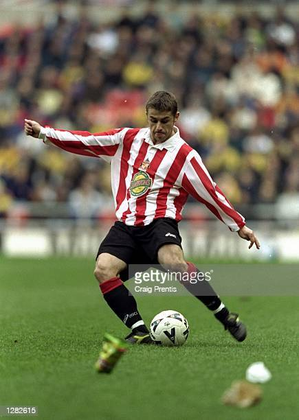 Kevin Phillips of Sunderland in action against Bolton Wanderers in the Nationwide Division One match at the Stadium of Light in Sunderland England...