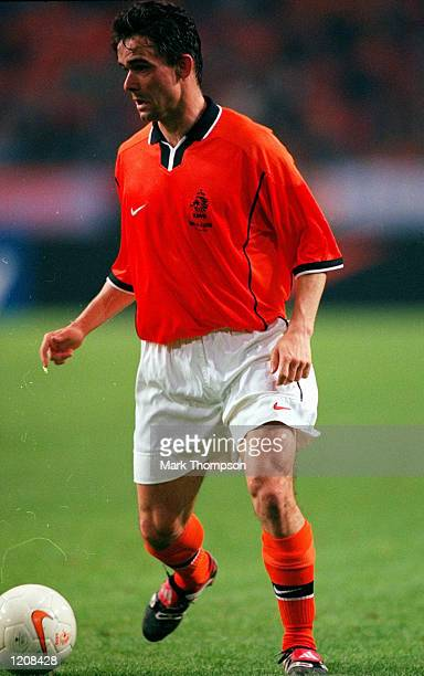 Marc Overmars of Holland on the ball during the International Friendly against Argentina at the Amsterdam ArenA in Holland Mandatory Credit Mark...