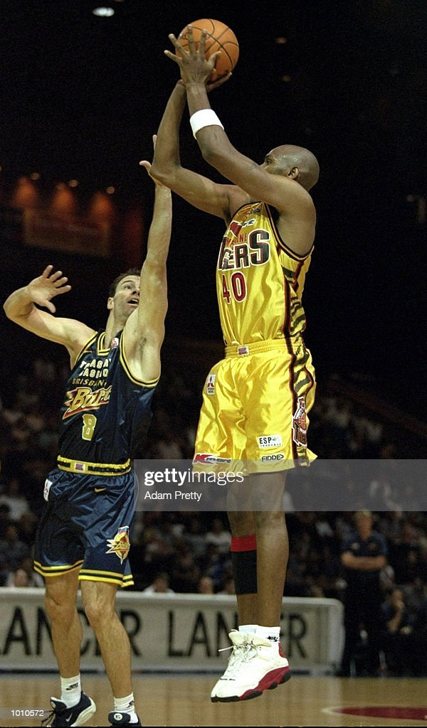 Marcus Timmons of the Melbourne Tigers in action against the Brisbane Bullets during the 1999 NBL Finals, from the Brisbane Convention Centre, Brisbane, Australia. \ Mandatory Credit: Adam Pretty /Allsport