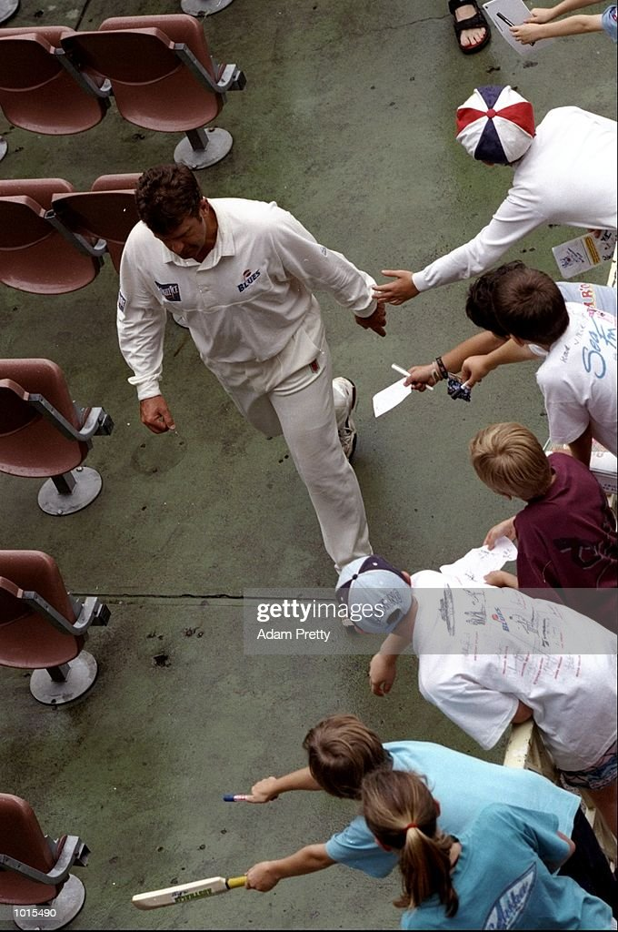 Mark Taylor of NSW leaves the pitch after his last game at the SCG following the Sheffield Shield match between New South Wales and South Australia at the Sydney Cricket Ground, Sydney, Australia. \ Mandatory Credit: Adam Pretty /Allsport