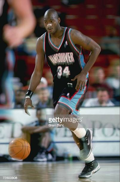 Michael Smith of the Vancover Grizzlies in action during the game against the Denver Nuggets at the McNichols Sports Arena in Denver Colorado The...