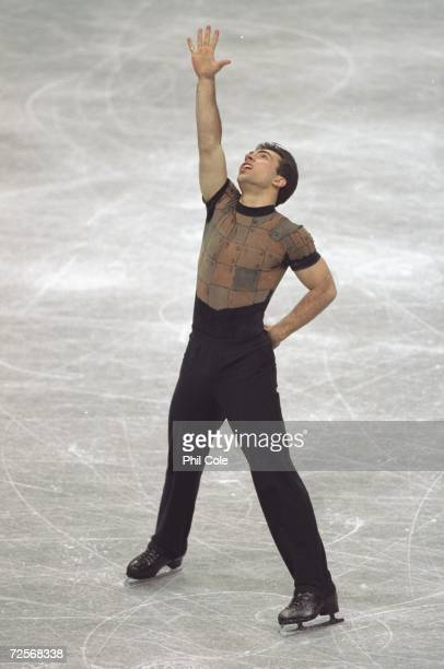 Michael Weiss of the USA in action during the mens final round of the World Figure Skating Championship in Helsinki Finland Mandatory Credit Phil...