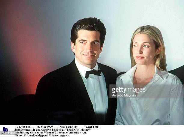 Mar 1999 New York City John Kennedy Jr And Carolyn Bessette At 'Brite Nite Whitney' Fundraising Gala At The Whitney Museum Of American Art