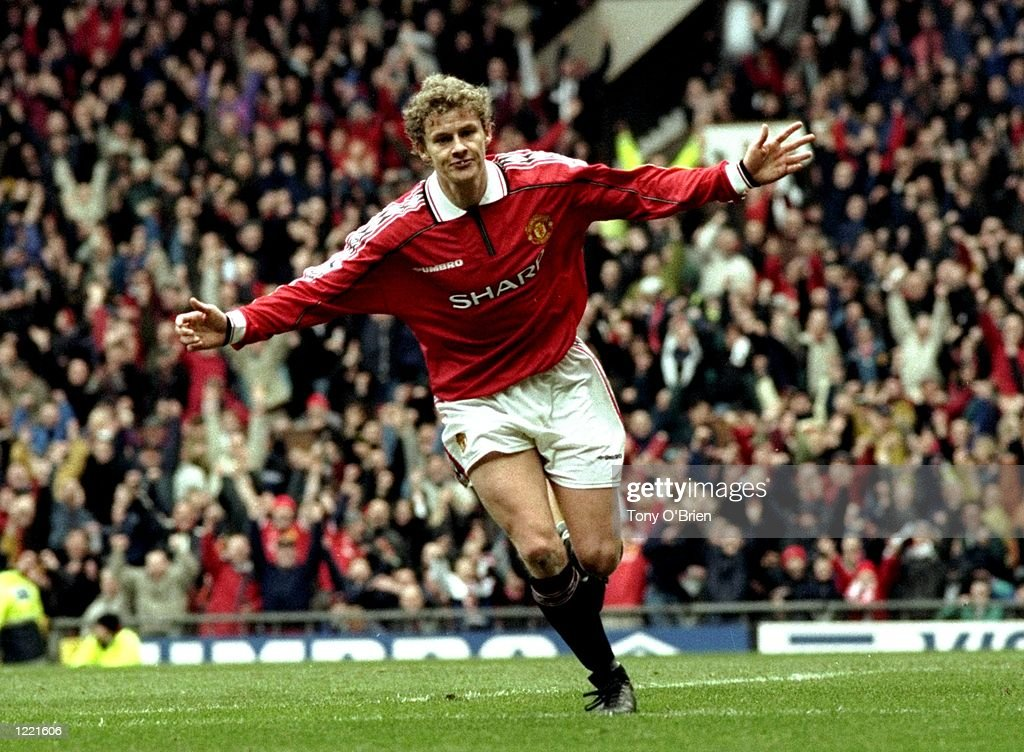 Ole Gunnar Sloskjaer of Manchester United : News Photo
