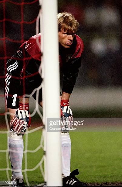 Oliver Kahn in goal for Germany during the Euro 2000 qualifier against Finland at the Frankenstadion in Nuremburg, Germany. \ Mandatory Credit:...