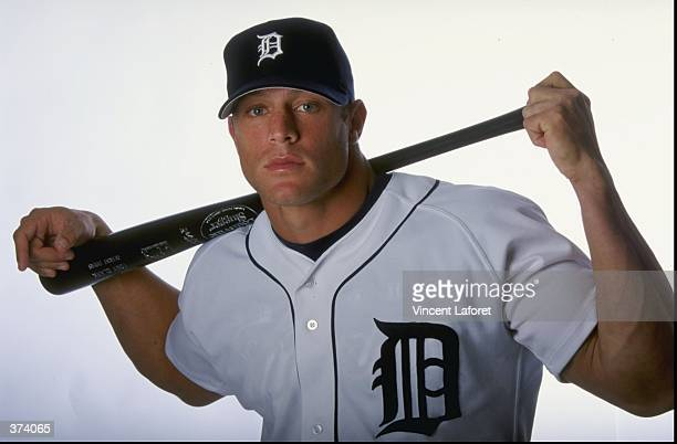 Outfielder Gabe Kapler of the Detroit Tigers poses for a studio portrait on Photo Day during Spring Training at the Joker Merchant Stadium in...