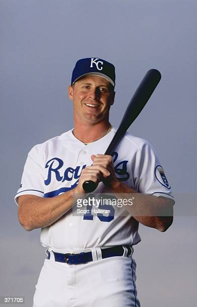 Outfielder Jeremy Giambi of the Kansas City Royals poses for the camera on Photo Day during Spring Training at the Baseball City Stadium in Davenport...