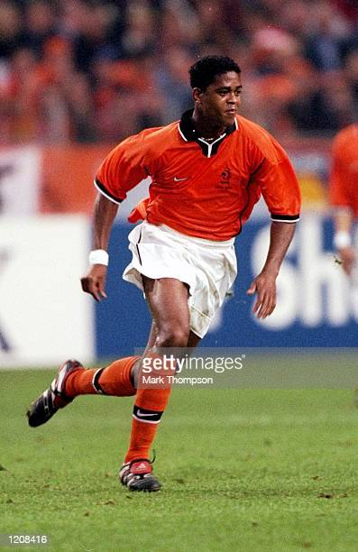 Patrick Kluivert of Holland during the International Friendly against Argentina at the Amsterdam ArenA in Holland. \ Mandatory Credit: Mark Thompson...