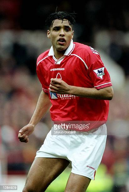 Pierre van Hooijdonk of Nottingham Forest in action against Middlesbrough in the FA Carling Premiership match at the City Ground in Nottingham...