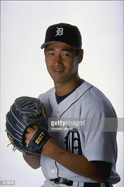 Pitcher Masao Kida of the Detroit Tigers poses for a studio portrait on Photo Day during Spring Training at the Joker Merchant Stadium in Lakeland...