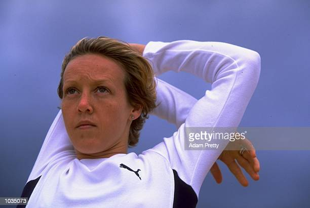 Portrait of 400 metre runner Allison Curbishley of Great Britain in a photoshoot feature held in Sydney Australia Mandatory Credit Adam Pretty...