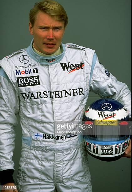 Portrait of McLaren Mercedes driver Mika Hakkinen at the Formula One Australian Grand Prix at Albert Park in Melbourne Mandatory Credit Mark Thompson...
