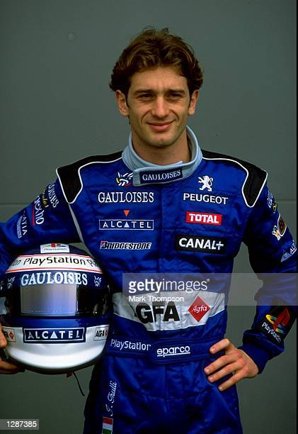 Portrait of Prost Peugeot driver Jarno Trulli at the Formula One Australian Grand Prix at Albert Park in Melbourne Mandatory Credit Mark Thompson...