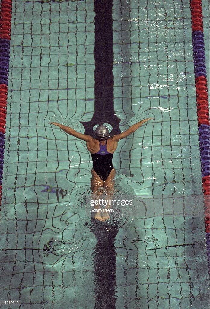 Samantha Riley of Australia in action during the Womens 50m Breastroke at the 1999 Australian Open Championships and Pan Pacific Selection Trials from the Chandler Aquatic Centre, Brisbane, Australia. \ Mandatory Credit: Adam Pretty /Allsport