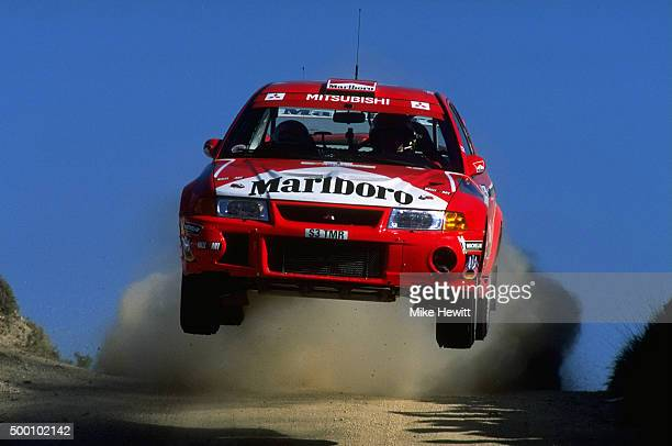 Tommi Makinen races the Mitsubishi Lancer at the FIA World Rally Championships Portugese Rally in Portugal Mandatory Credit Mike Hewitt /Allsport