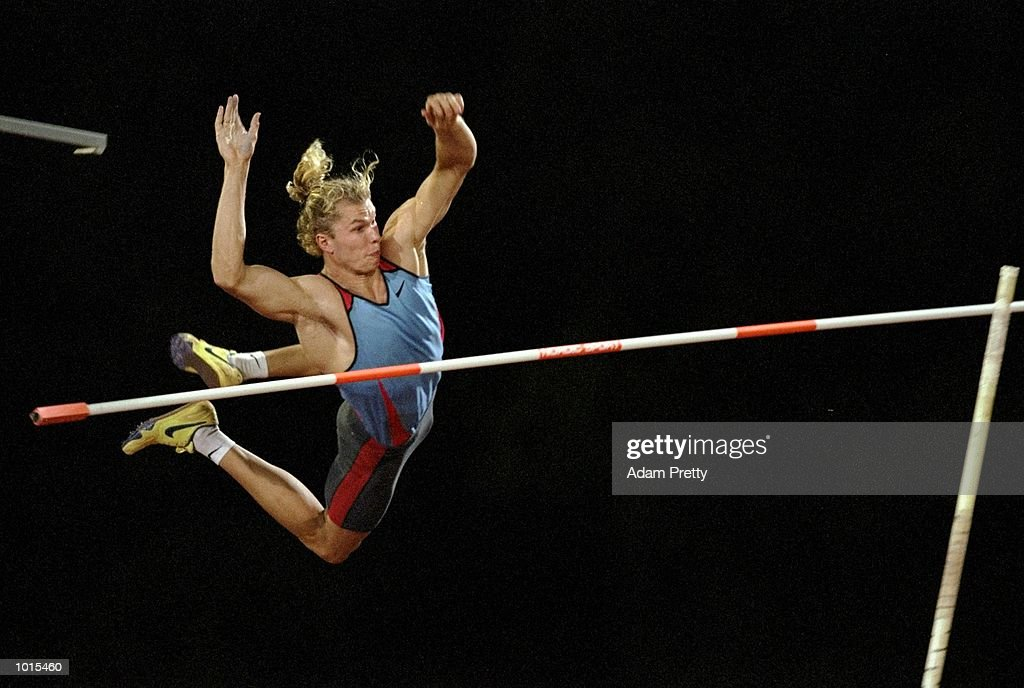 Viktor Tchistiakov of Australia in action during the Mens Pole Vault at the Optus Athletics Grand Prix Final in Brisbane, Australia. \ Mandatory Credit: Adam Pretty /Allsport