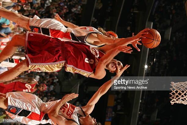 Mar 20 2007 Charlotte NC USA Cleveland Cavaliers SASHA PAVLOVIC against Charlotte Bobcats WALTER HERRMANN ADAM MORRISON on March 20 at the Charlotte...
