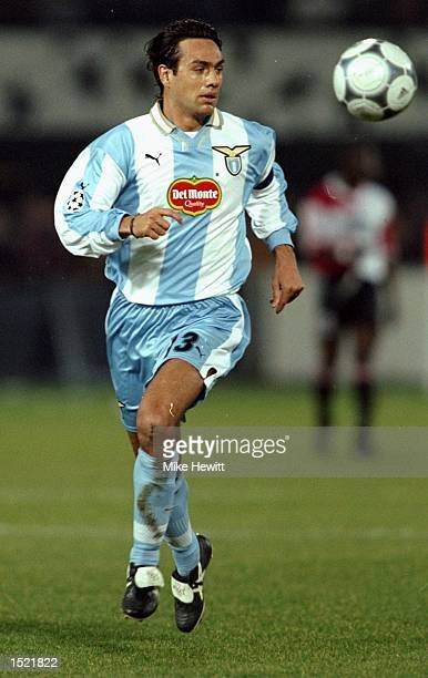 Alessandro Nesta of Lazio during the UEFA Champions League game between Feyenoord and Lazio at the De Kuip Stadium in Rotterdam The match finished 00...