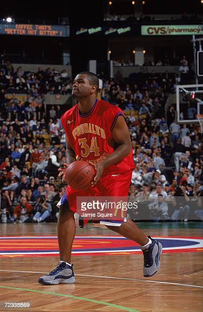 Alton Ford of Team West in action during the McDonalds High School All American game against Team East at The Fleet Center in Boston Massachusetts...