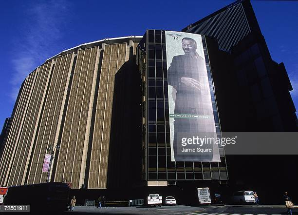 An exterior view of the Madison Square Garden in New York. Mandatory Credit: Jamie Squire /Allsport