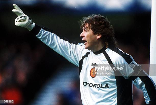 Andy Goram of Motherwell seen in action during the Scottish Premier match between Rangers 6 v Motherwell 2 played at the Ibrox Stadium Mandatory...
