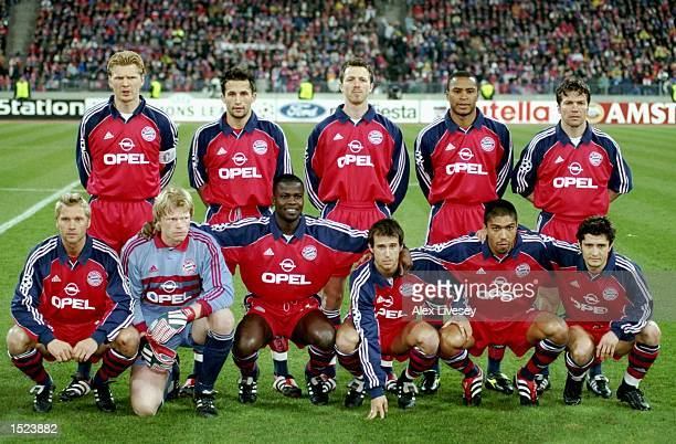 Bayern Munich line up to face Real Madrid in the UEFA Champions League group C match at the Olympiastadion in Munich Germany Mandatory Credit Alex...