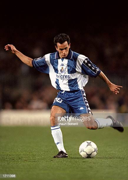 Clayton of Porto in action against Barcelona during the UEFA Champions League group A match at the Nou Camp in Barcelona Spain Barcelona won 42...