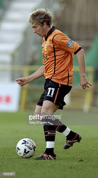 Darren Currie of Barnet in action during the Nationwide League Division 3 game against Swansea City played at Underhill in London The match ended 01...