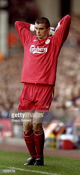 Dominic Matteo of Liverpool in action during the FA Carling Premiership match against Newcastle at Anfield in Liverpool, England. Liverpool won 2-1....