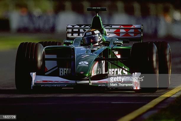 Eddie Irvine of Jaguar in action during the Australian Formula One Grand Prix at Albert Park in Melbourne, Australia. \ Mandatory Credit: Mark...