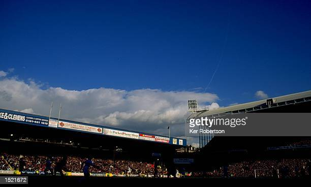 General view of the stadium during the Nationwide League Division One match between Crystal Palace and Manchester City at Selhurst Park in London The...