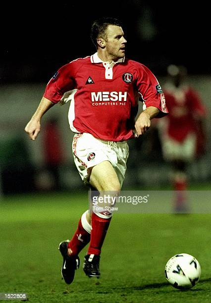 Graham Stuart of Charlton Athletic in action during the Nationwide League Division One game between Charlton Athletic and Grimsby Town at The Valley...